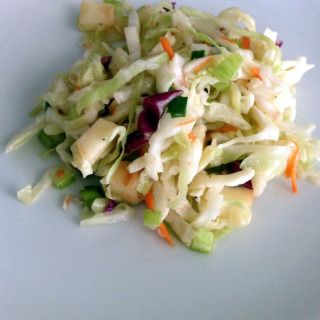 Apple, Cranberry & Almond Coleslaw
