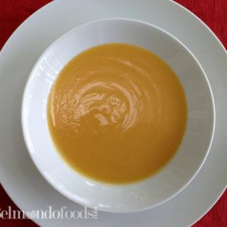 Puréed  butternut squash soup