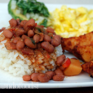 Vegetarian Puerto Rican Pink beans