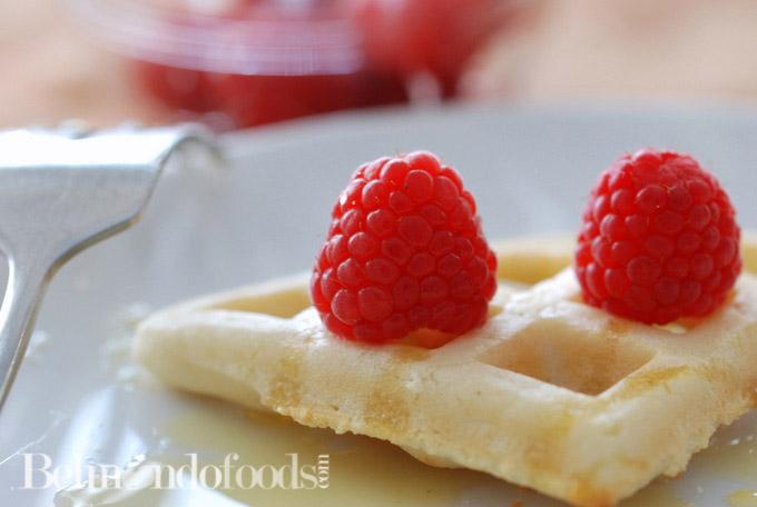 Crispy Gluten Free White Rice Flour Waffles-3