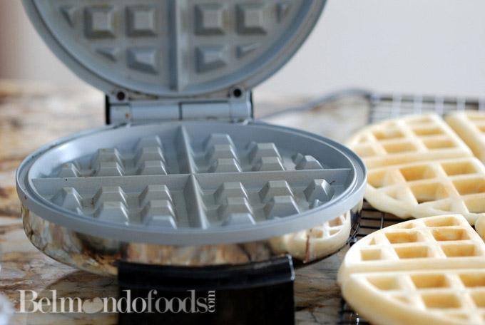 Crispy Gluten Free White Rice Flour Waffles-4